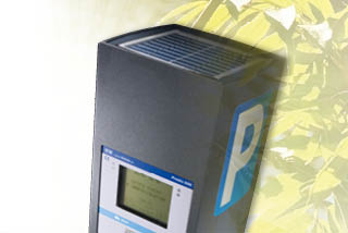 An ultra compact low energy-use pay and display system